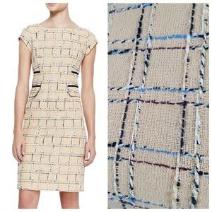 Tory Burch 0 Evie Linen Tweed Boucle Sheath Dress